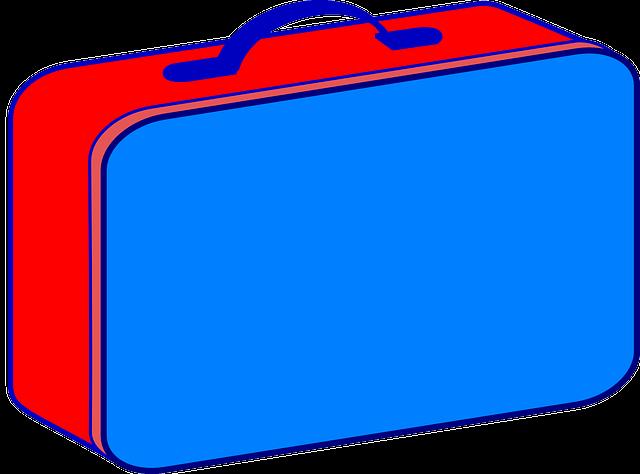 Rød og blå madkasse